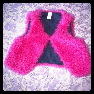 Other - Toddler girl pink fuzzy vest